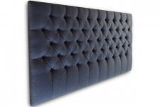 Custom deep button headboard, 1000mm high, New York Ebony