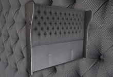 Ronda deep button super king headboard with wings